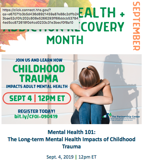 HHS Faith PartnerShip: Mental Illness 101: Childhood Trauma and Mental Health Impacts