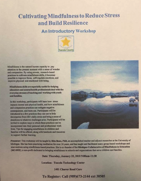 Cultivating Mindfulness to Reduce Stress and Build Resilience - An Introductory Workshop
