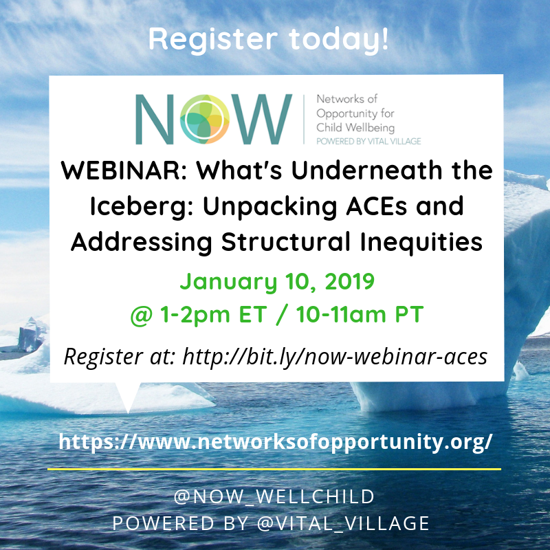 WEBINAR: What's Underneath the Iceberg: Unpacking ACEs and Addressing Structural Inequities