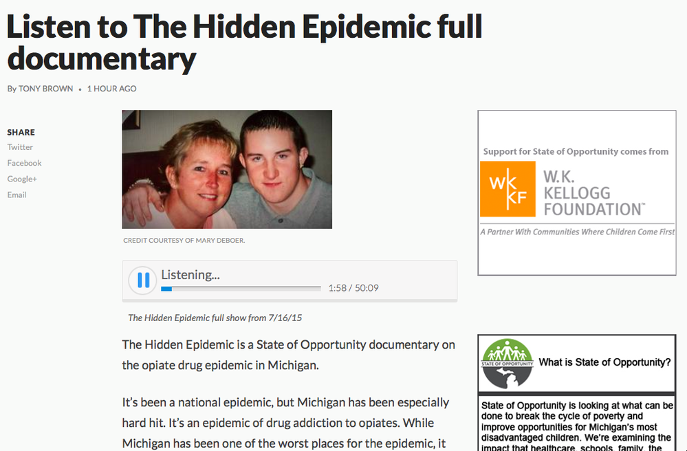 Michigan's Hidden Epidemic Full Documentary