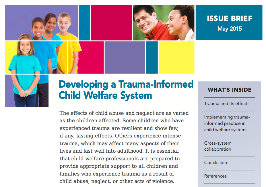 Developing a Trauma-Informed Child Welfare System