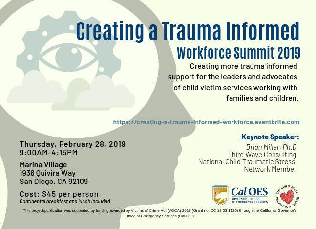 Creating a Trauma-Informed Workforce Environment Summit 2019 | San