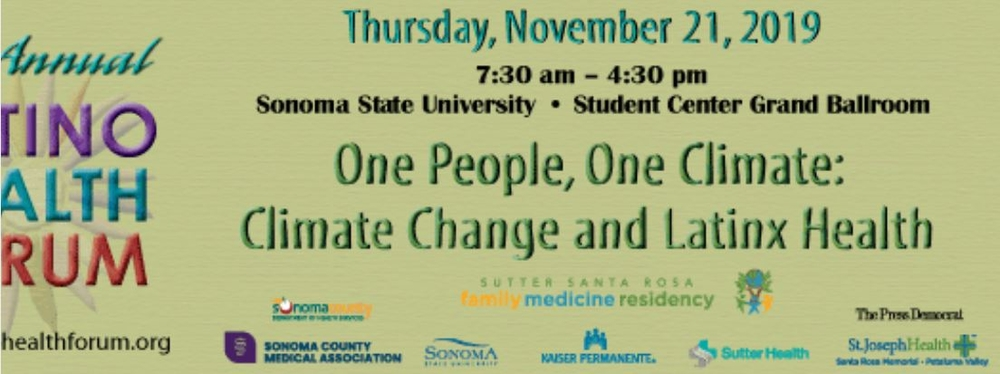 NEW DATE: November 21st: Latino Health Forum: One People, One Climate