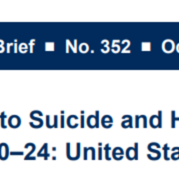 Death Rates Due to Suicide and Homicide Among Ages 10 - 24, United States 2000-2017 (8-pages)